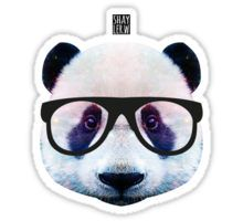 Panda Hipster Sticker