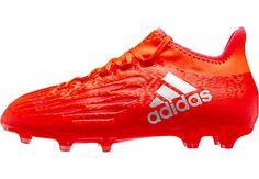 newest 70fdf 2ecc8 adidas Kids X 16.1 FG Soccer Cleats - Solar Red  amp  Silver Metallic    SoccerMaster
