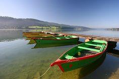 #myhautdoubs - Saint-Point, a major lake (© CRT Franche-Comté / Fabrice PARRIAUX) Alsace Lorraine, Destinations, France, Boat, River, Rustic, Saint, Explore, Landscape