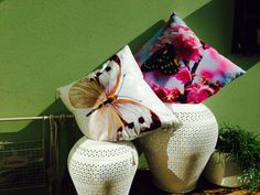 Cushion summer 2014 butterfly print