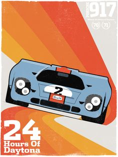 """Porsche 911 has been one of the most iconic sports cars ever. In 2013 Porsche made this """"tribute"""" video dedicated to it beloved """"Neunelfer"""" featuring all Grand Prix, Le Mans 24, Classic Race Cars, Retro, Car Illustration, Porsche Cars, Vintage Race Car, Automotive Art, Courses"""