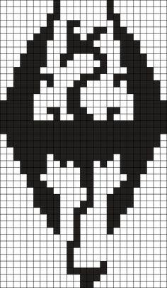 Skyrim Bead Sprite Perler Bead Pattern / Bead Sprite