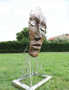Sign of uman presence (corten, stainless steel) Sculpture Organic Structure, Metallic Spray Paint, Stainless Steel Bar, Steel Sculpture, Taking Shape, Corten Steel, Spray Painting, Saatchi Art, Paint Metal