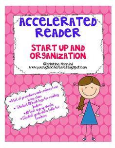 Accelerated Reader Start Up Organization Printables *FREEBIE*