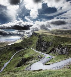 Isle of Skye - a tight bend in the road...