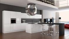 cucina moderna bianca e grigia - Cerca con Google