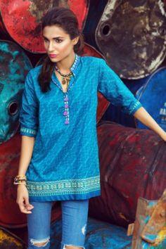 Winter Pret Kurtas Designs For Women By Khaadi 2015-16 10
