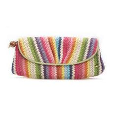 Candy crochet clutch