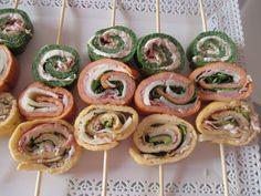 Spiedini di frittata tricolori
