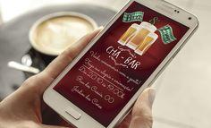 Convite Digital Chá Bar - Whatsapp  Texto Livre    ----------------------------------------------------  ATENÇÃO:  ----------------------------------------------------   Este produto não é um material impresso. O formato do produto é digital, ou seja, você recebe a arte por e-mail e imprime como ...