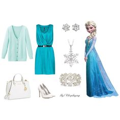 """Elsa Snow Queen Closplay"" by closplaying on Polyvore"