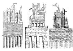 Gaetano Ginex · Paesaggi frontali · Architettura italiana