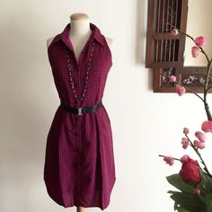 Cut-in Houndstooth Print Shirt Dress on Carousell
