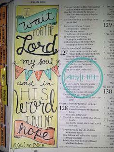 Artsy Faith   Psalm 130:5 #ArtsyFaith #FaithArt #IllustratedFaith #ScriptureArt