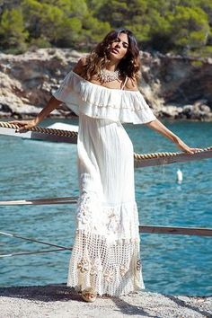 Wedding boho chic dress hippies Ideas for 2019 Mode Hippie, Bohemian Mode, Bohemian Style, Boho Chic, Bohemian Living, Hippie Boho, Boho Gypsy, Hippie Style, Casual Chic