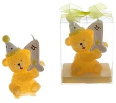 Teddy Bear 1st Birthday Candle Case Pack 48