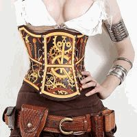 Is your style lacking a little tick tock? Featured on the popular ABC show 'Castle', this hard leather #corset is beyond stunning in person! Hand painted, laser etched, #Steampunk perfection. Clockwork bra also available separately! http://www.pearsonsrenaissanceshoppe.com/clockwork-corset.html