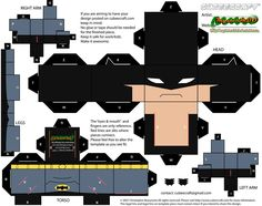 I've had the body for this done for quite a while, I was working on the cape designs. For those of you who didn't see The Batman cartoon, Bats had his c. The Batman cubee - body Batman Birthday, Batman Party, Superhero Party, Batman Cartoon, Lego Batman, Diy Paper, Paper Crafts, Paper Dolls Clothing, Cape Designs