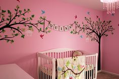 """Amazon.com : PopDecors - Big tree with love birds(100"""" W) - Custom Beautiful Tree Wall Decals for Kids Rooms Teen Girls Boys Wallpaper Murals Sticker Wall Stickers Nursery Decor Nursery Decals : Nursery Decor Products : Baby"""
