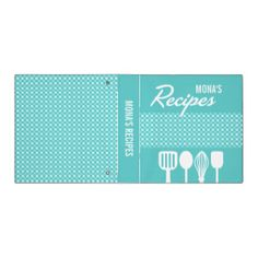 Gingham & Utensils Recipe Binder #recipe #recipes #family #recipes #recipe #collection #binder #organizer #gingham #untensils #whisk #spatular #spoon #cooking #kitchen #family #mom #grandma #classy #elegant #vector #teal #white #food #beverages