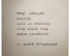F Scott Fitzgerald Liebe Zitat gemacht auf von WhiteCellarDoor