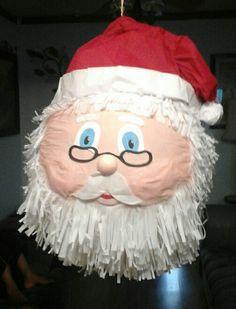 Santa's head piñata