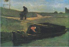 Van Gogh - Torfboot mit zwei Figuren, 1883