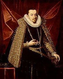 Albert VII, Archduke of Austria (1559 - 1621). Son of Maximilian II and Maria of Spain. He was married to Isabella Clara Eugenia of Spain.