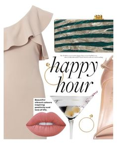 """Bottoms Up: Happy Hour"" by cultofsharon ❤ liked on Polyvore featuring Elizabeth and James, ASOS, Edie Parker, Stuart Weitzman and Lime Crime"
