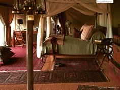 """This is inside a tent but definitely not """"roughing it"""". - Singita Sabora Tented Camp - Luxury Safari Camps"""
