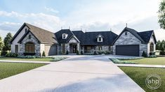 The great expanses of this French Country, 1 story house plan are highlighted by three separate outdoor living areas -- a covered front porch, a covered patio, and a 3 Seasons porch. French Country House Plans, Country House Design, European House Plans, Southern House Plans, Modern Farmhouse Plans, Craftsman Style House Plans, Outdoor Living Areas, Story House, House Layouts