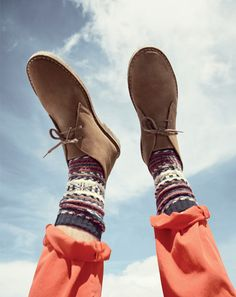 J.Crew Macalister classic boot in suede and Chup™ socks.