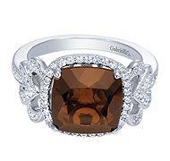 Gabriel & Co Chocolate Diamond Ring #jewelry