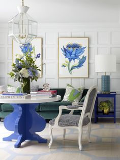 This fabulous Fairfield home design by the talented Lynn Morgan Design is elegant, fresh and fun–everything a home for a young family should be! Chinoiserie, Painted Floors, Kids Furniture, Furniture Logo, Furniture Outlet, Cheap Furniture, Luxury Furniture, Painted Furniture, Modern Furniture