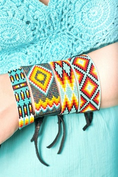Beaded Native American Style Bracelets www.NativeTreasures.net