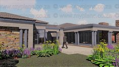 4 Bedroom House Plan – My Building Plans South Africa Free House Plans, House Layout Plans, Best House Plans, House Layouts, House Floor Plans, 4 Bedroom House Plans, Family House Plans, My Building, Building Plans