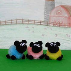 This craft idea for kids is too cute and too easy! Your youngest ones will be wanting to make this Pom Pom Sheep Craft for the Easter season. In this kids' Easter craft, pom poms work their magic to make these sheep extra fluffy and extra poufy. Animal Crafts For Kids, Easter Crafts For Kids, Crafts To Do, Art For Kids, Arts And Crafts, Cain Y Abel, Sheep Crafts, Cute Sheep, Pom Pom Crafts