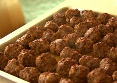 BBQ Meatballs - for a crowd Make ahead and freeze.