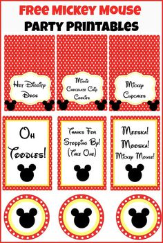 Free Mickey Mouse party printables.