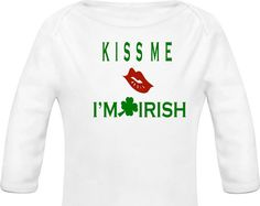 Kiss Me I'm Irish Onesie by NettieJewels on Etsy
