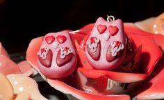 - SOLD - Valentine Owl Earrings  Polymer Clay  Earrings  by DeidreDreams, €13.95
