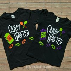 Because we all have been candy wasted loving this funny Halloween design! Not so scary Halloween party shirt (Scary Halloween Signs) Halloween Shirts For Boys, Halloween Vinyl, Creative Halloween Costumes, Halloween Fashion, Halloween Design, Halloween Kids, Kids Shirts, Halloween Party, Funny Halloween