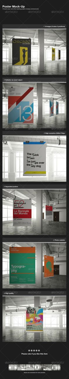 awesome poster mock up gallery preview download free and premium psd files http://psdsonar.com/awesome-poster-mock-up/