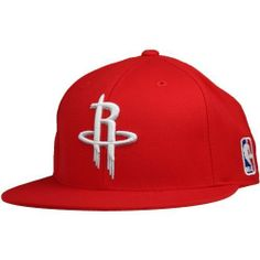 NBA adidas Houston Rockets Flat Bill Fitted Hat - Red - Price   23.99 c86d3908b3e