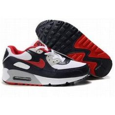 separation shoes 0fe2b de273 Cheapest Collection Air Max 90 Men - Black   White - Neutral Grey - Varsity  Red