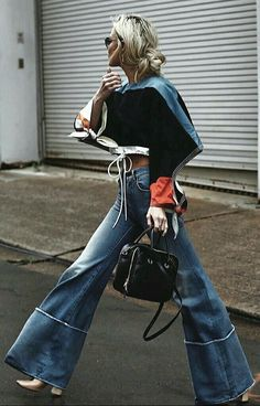 25 Wide Leg Pants That Will Make You Look Cool - Summer Fashion New Trends Denim Fashion, Look Fashion, Autumn Fashion, Fashion Outfits, Fashion Trends, Crazy Fashion, Fashion Tips, Looks Street Style, Looks Style