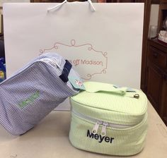 Great monogrammed travel set from Monograms off Madison
