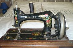 """""""UN... SMTHNG"""" small sewing machine made in saxony, germany"""