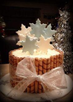 Christmas Deserts, Noel Christmas, Christmas Goodies, Christmas Cakes, Winter Christmas, Holiday Baking, Christmas Baking, Beautiful Cakes, Amazing Cakes