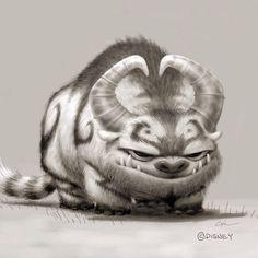 Concept art for Gruff ... gruff, tinkerbell, Gruff the NeverBeast, neverbeast